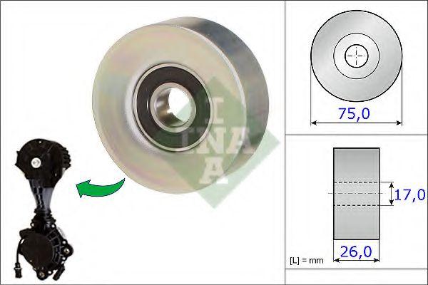 Паразитный / ведущий ролик, поликлиновой ремень INA арт. 532067610
