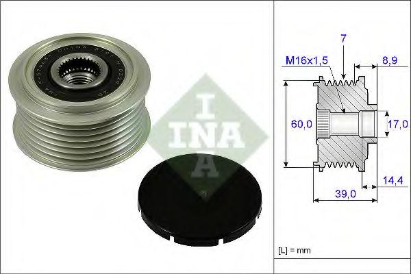 Механизм свободного хода генератора INA арт. 535024510