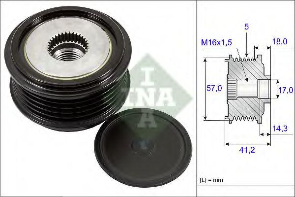 Муфта генератора INA 535024810