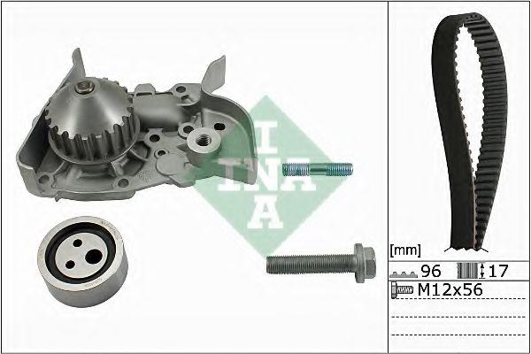Комплект (ремінь+ролик+помпа) INA 530019130