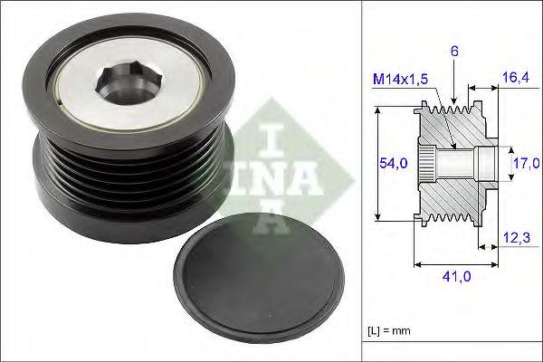 Механизм свободного хода генератора INA арт. 535025910