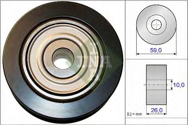 Паразитный / ведущий ролик, поликлиновой ремень INA арт. 532073710
