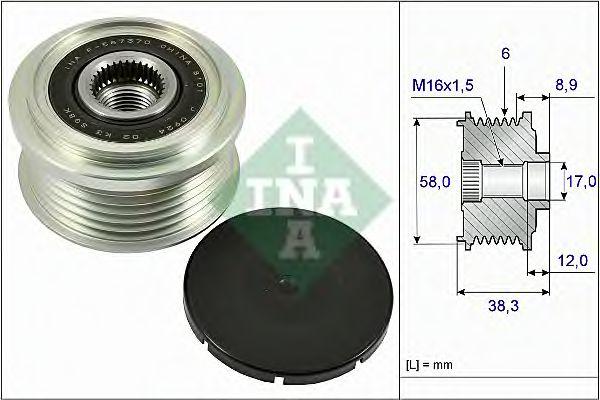 Механизм свободного хода генератора INA арт. 535026610