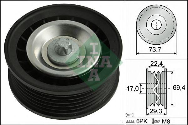 Паразитный / ведущий ролик, поликлиновой ремень INA арт. 532078410