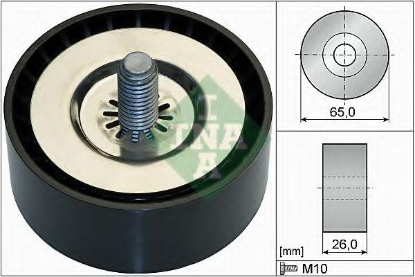 Паразитный / ведущий ролик, поликлиновой ремень INA арт. 532073610