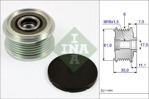 Муфта генератора INA 535002210