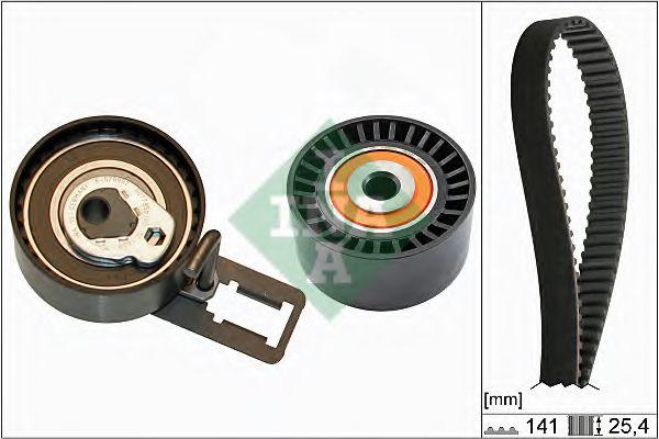 Комплект (ремінь+ролики) INA 530061210