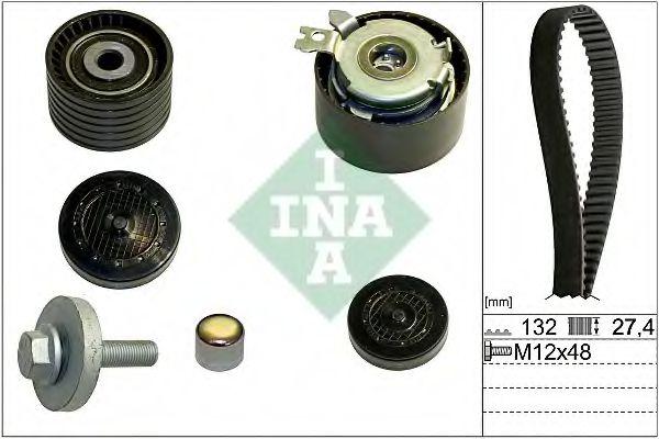 Комплект (ремінь+ролики) INA 530064010