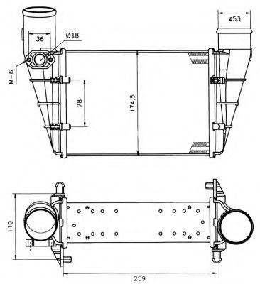 Интеркулер NRF арт. 30127A