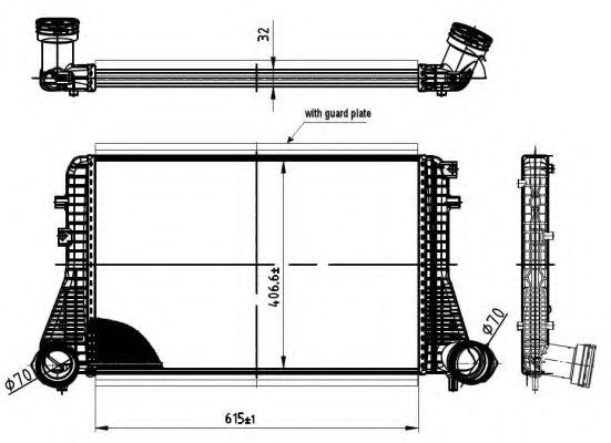 Интеркулер NRF арт. 30454