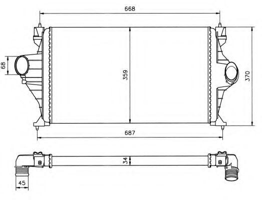 Интеркулер NRF арт. 30802