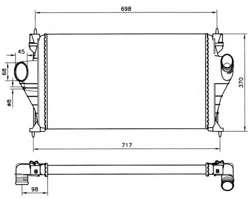 Интеркулер NRF арт. 30828