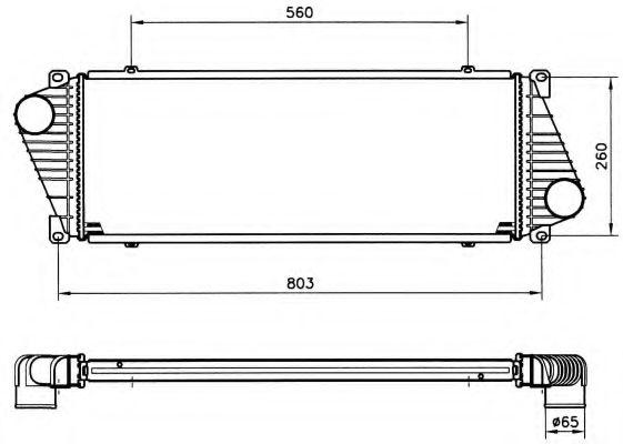 Интеркулер NRF арт. 30830