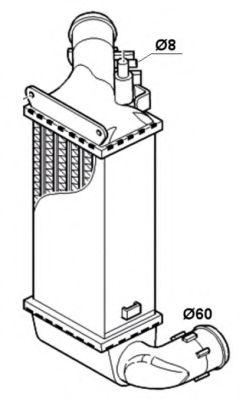 Интеркулер NRF арт. 30835