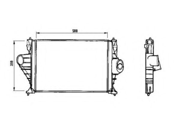 Интеркулер NRF арт. 30843
