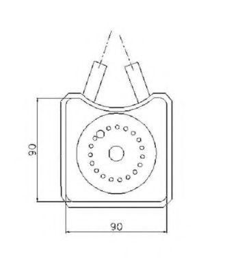 масляный радиатор, двигательное масло NRF арт. 31305