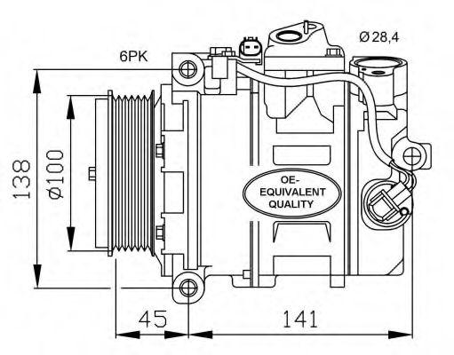 Оборудование для СТО Компрессор, кондиционер NRF арт. 32256