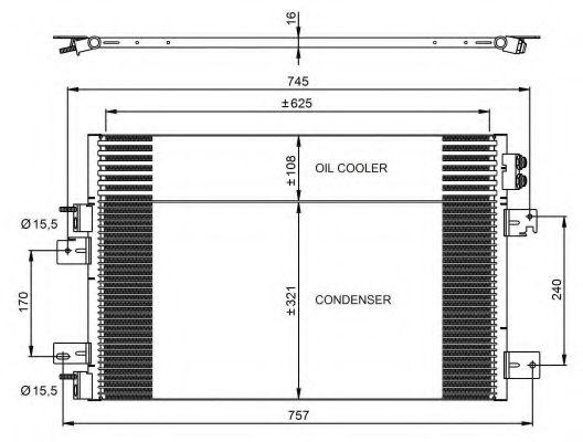 Конденсер кондиціонера NRF 350031
