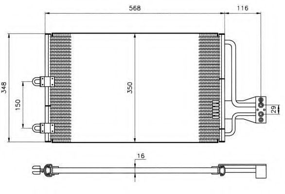 Конденсер кондиціонера NRF 35149