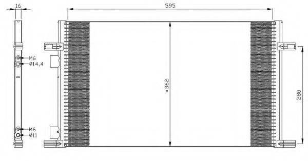 Конденсатор, кондиционер NRF арт. 35298
