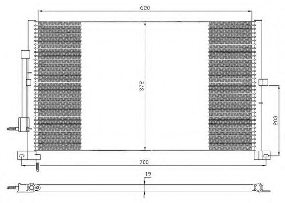 Конденсатор, кондиционер NRF арт. 35365