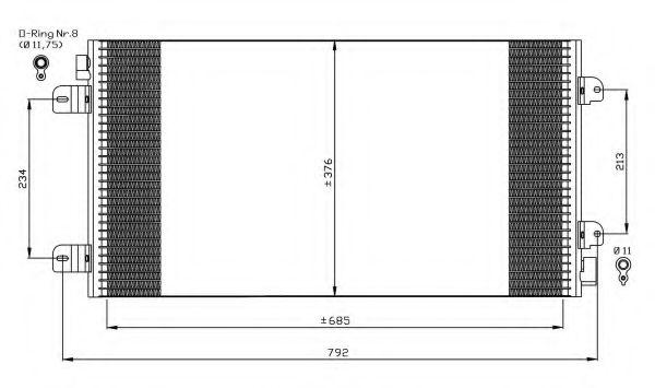 Конденсер кондиціонера NRF 35485