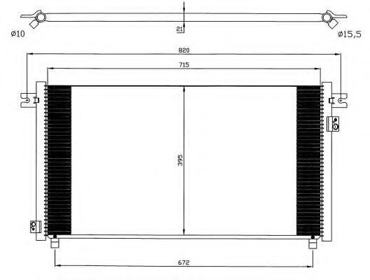 Конденсер кондиціонера NRF 35574