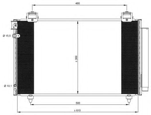 Конденсатор, кондиционер NRF арт. 35592
