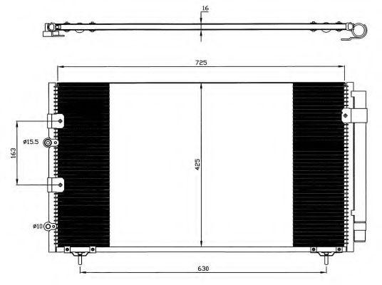 Конденсер кондиціонера NRF 35609