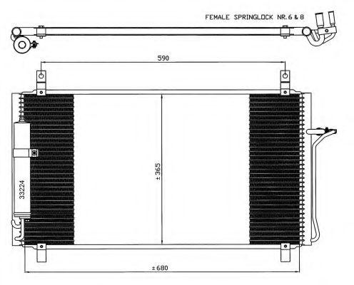 Конденсер кондиціонера NRF 35624