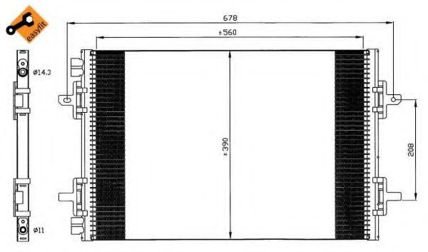 Конденсатор, кондиционер NRF - 35634