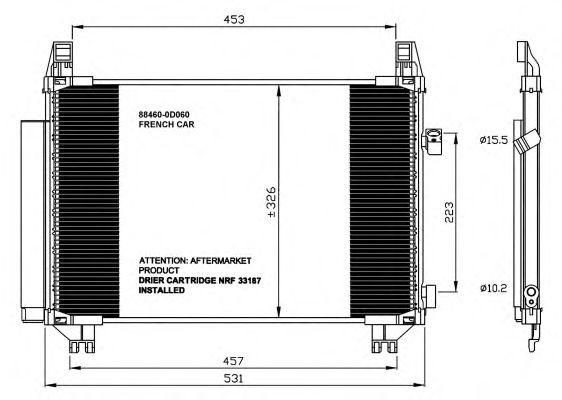 Конденсер кондиціонера NRF 35654
