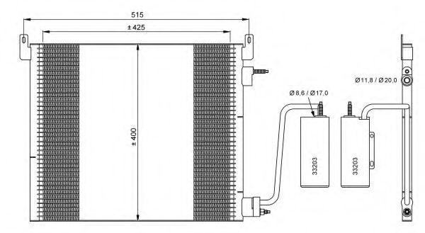 Конденсер кондиціонера NRF 35741