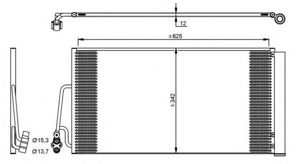 Конденсер кондиціонера NRF 35898