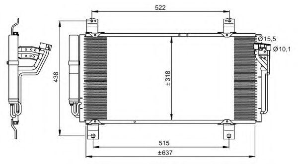 Конденсер кондиціонера NRF 35949