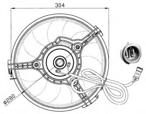 Вентилятор, охлаждение двигателя NRF арт. 47023