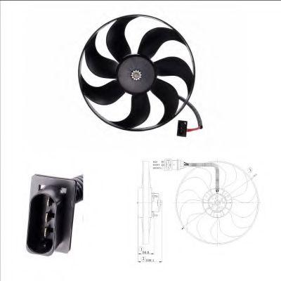 Вентилятор, охлаждение двигателя NRF арт. 47204