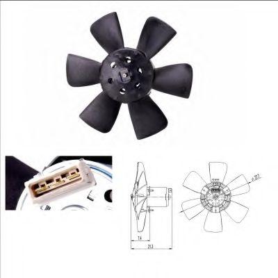 Вентилятор, охлаждение двигателя NRF арт. 47391