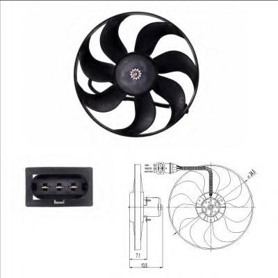 Вентилятор, охлаждение двигателя NRF арт. 47397