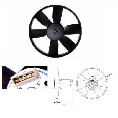 Вентилятор, охлаждение двигателя NRF арт. 47401