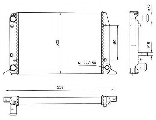 Радиатор, охлаждение двигателя NRF арт. 50514