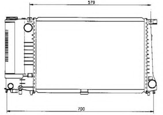 Радиатор, охлаждение двигателя NRF арт.