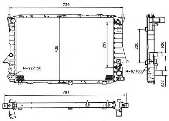 Радіатор охолоджування NRF 51319