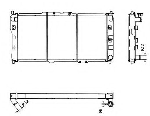 Радіатор охолоджування NRF 52017