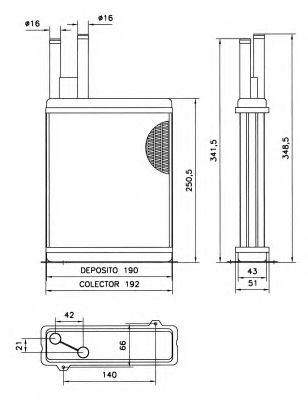 Теплообменник, отопление салона NRF - 52066