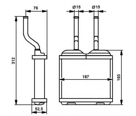 Теплообменник, отопление салона NRF - 52103