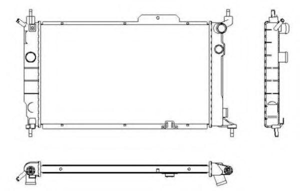 Радиатор, охлаждение двигателя NRF - 52204