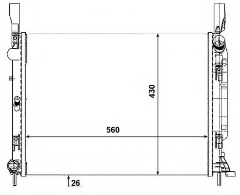 Радіатор охолоджування NRF 53001