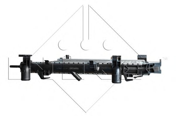 Радиатор, охлаждение двигателя NRF арт. 53002