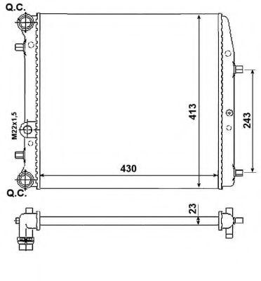 Радиатор, охлаждение двигателя NRF арт. 53021A
